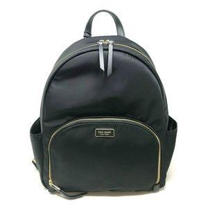 Kate Spade Dawn Large Backpack Bag Black Nylon